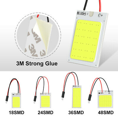1//5//10X 18//24//36//48SMD COB LED Car Interior Panel Light Dome Lamp Bulb White
