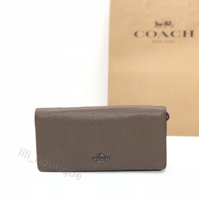 427d4c4c8aa49 NWT Coach 23590 Bifold Slim Wallet Wristlet Leather Colorblock Fatigue  Multi 150