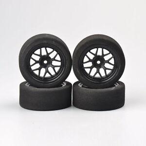 For-HSP-HPI-RC-Car-1-10-on-Road-Racing-Car-4Pcs-12mm-hex-Unique-Foam-Wheels-Rim