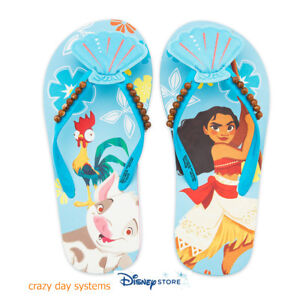 85e44e933 Disney Store Moana Flip Flops Sandals Shoes Girls 11 12 1 2 3 NEW ...
