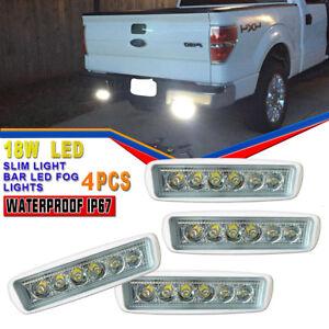 4-X-NEW-18W-6-inch-LED-Work-Light-Bar-Spot-Beam-Off-road-4WD-UTE-Driving-Light