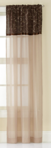 CHF-Window-Curtain-Westgate-Two-Tone-Sheer-Rod-Pocket-Panel-Chocolate-50-X-63