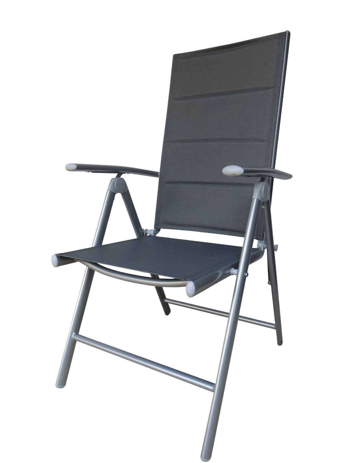 Mandalika plegable sillón bolero silb. Padded Alu silla plegable muebles de jardín silla de jardín