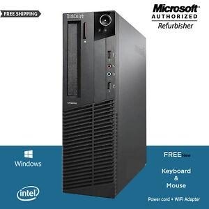 LENOVO-M92P-SFF-DESKTOP-COMPUTER-PC-INTEL-i5-3470-3-2GHz-16GB-RAM-HDD-WIN10-WiFi