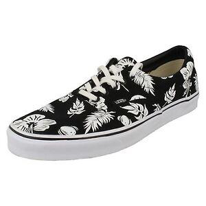 3548ac4182 Vans VW3CENB Mens Tropicoco Black Canvas Lace Up Shoe UK 3.5 to 5 ...