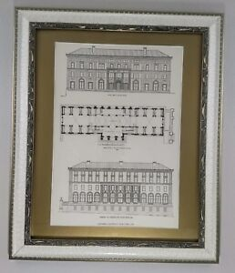 Columbia-University-School-of-Journalism-1913-Framed-Architecture-Lithograph