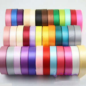 25Yards-Satin-Ribbon-Wedding-Birthday-Party-Home-Decor-Craft-Sewing-DIY-Hair-Bow