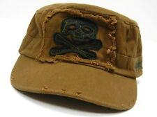 VOODOO TACTICAL Coyote RANGER ROLL CAP Hat w/ Skull Crossbone Patch 20-001707000