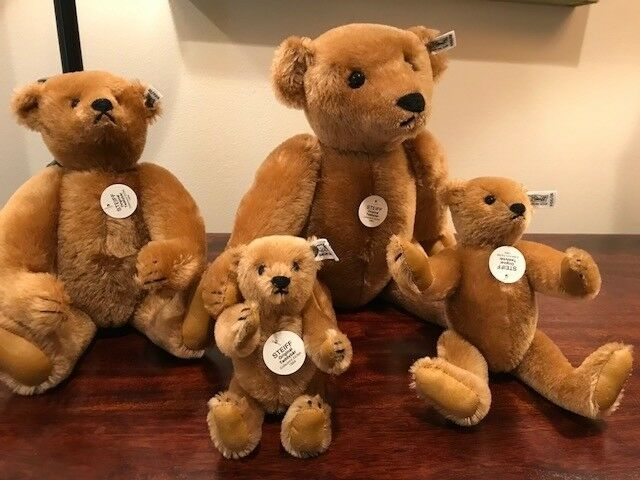 Steiff Margaret Strong Cinnamon Teddy Bears (set of 4)-Collectors Edition 1984