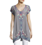 JOHNNY-WAS-Blouse-V-Neck-YASSI-TUNIC-Embroidered-Short-Sleeve-Dress-XL-248 thumbnail 6
