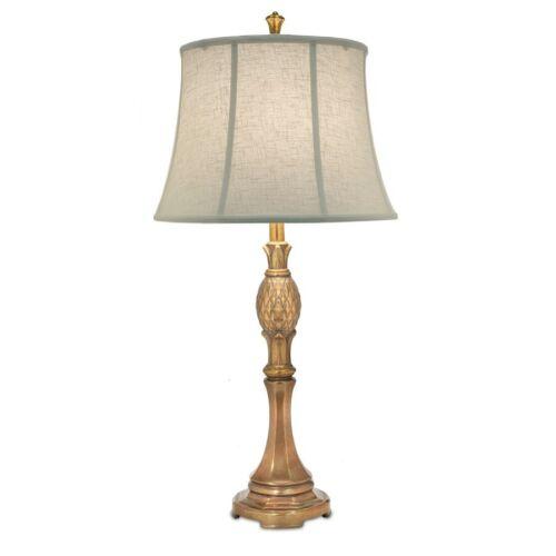 TL-A888-PHB Polished Honey Brass Stiffel 33 Table Lamp Cream Aberdeen
