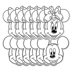 Image Is Loading Mickey Mouse And Minnie Colour Keep