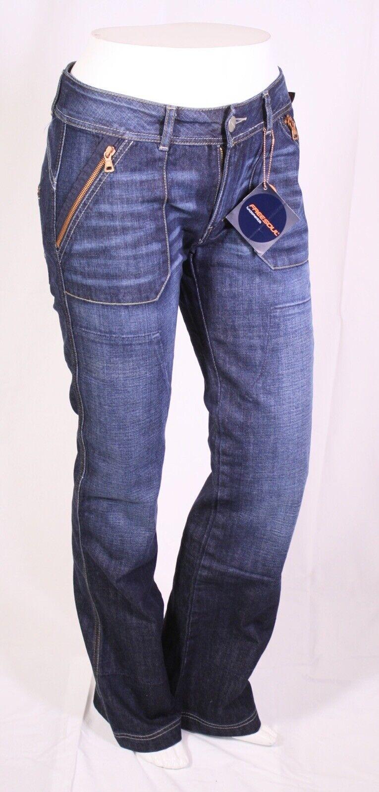KJ5-8 Freesoul Scratch Damen Jeans blau blau blau W28 L34 Stretch Stiefelcut Workerlook Neu | Clearance Sale  | Neuartiges Design  | Neues Design  | Haben Wir Lob Von Kunden Gewonnen  | Clever und praktisch  454563
