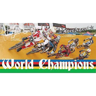 Free Agent World Champions Banner 48 X 24 World Champions Banner Bike