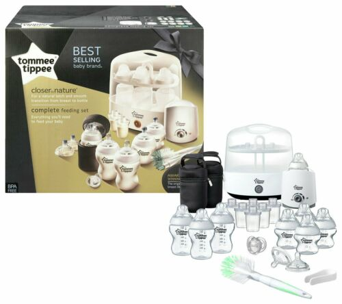 Blanc Original Neuf TOMMEE TIPPEE complet Big Alimentation Set Closer to Nature