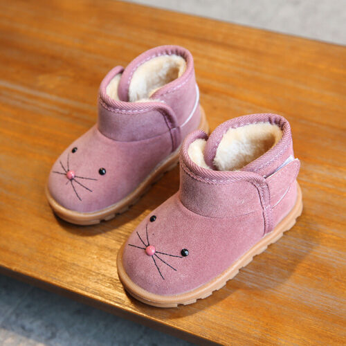 Kids Ankle Boots Girls Boys Winter Warm Martin Boots Baby Toddler Shoes Size