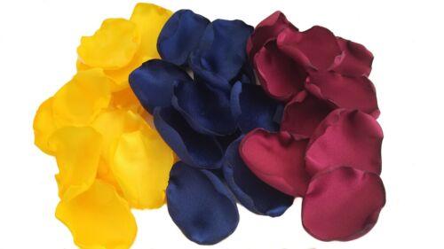 Sunflower Yellow Navy Blue Burgundy Wedding Flower Petals Bridial Party Decor