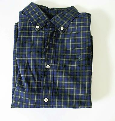 Ralph Lauren Boys Long Sleeve Plaid Poplin Shirt Blue Multi Sz XL (18-20) - NWT