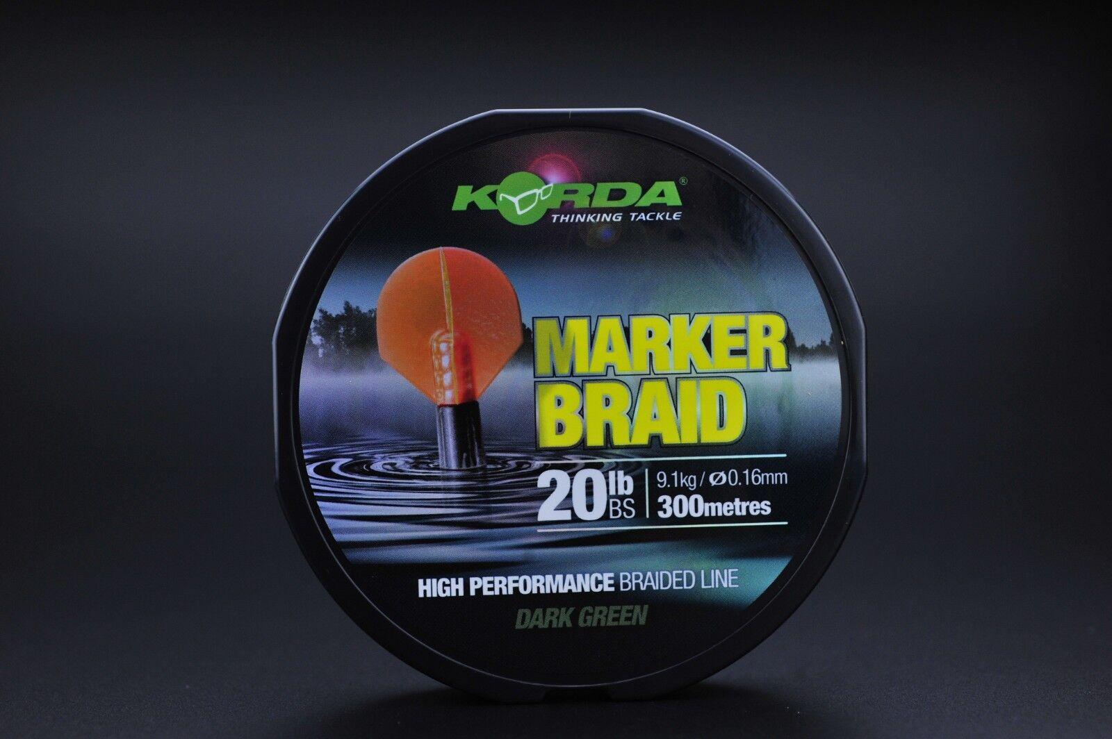 Korda  Marker Braid 20lb 300m NEW Free P+P