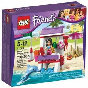 41028 EMMA'S LIFEGUARD POST lego friends set NEW legos retired sealed box