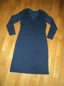 Peter Hahn Damen Stretch kleid Gr. 40, blau | eBay