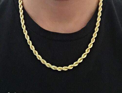 Cadena De Oro Cuerda Cadena de oro 14k 20in 6mm