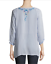 Beautiful-JOHNNY-WAS-Floral-Embroidered-BLUE-MOON-Button-Neck-Tunic-S-228 thumbnail 5