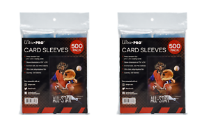 1000-Ultra-Pro-Soft-Trading-Card-Sleeves-Acid-Free-No-PVC-Standard-Size-Clear