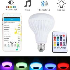 Details Lamp 12W about Wireless Bulb Play Music Remote Speaker Light Smart RGB Bluetooth LED XiuOkZP