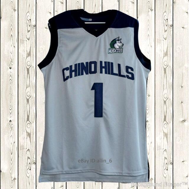 Liangelo Ball #3 Chino Hills Basketball Stitched Jersey High School NWT Gray