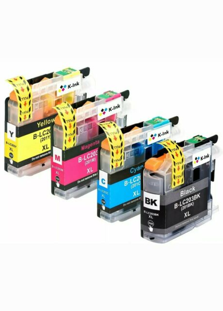 LC-203 LC-203XL Color Ink Cartridge For Brother L-C201 MFC
