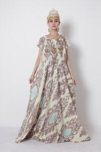 Adras-Silk-National-Uzbek-Traditional-Original-Long-Dress-SALE-WAS-169-00