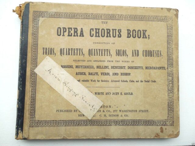 1849 CLASSIC MASTERS SONG BOOK 200 PAGE WORDS, MUSIC & SCORES STRONG VERY USABLE
