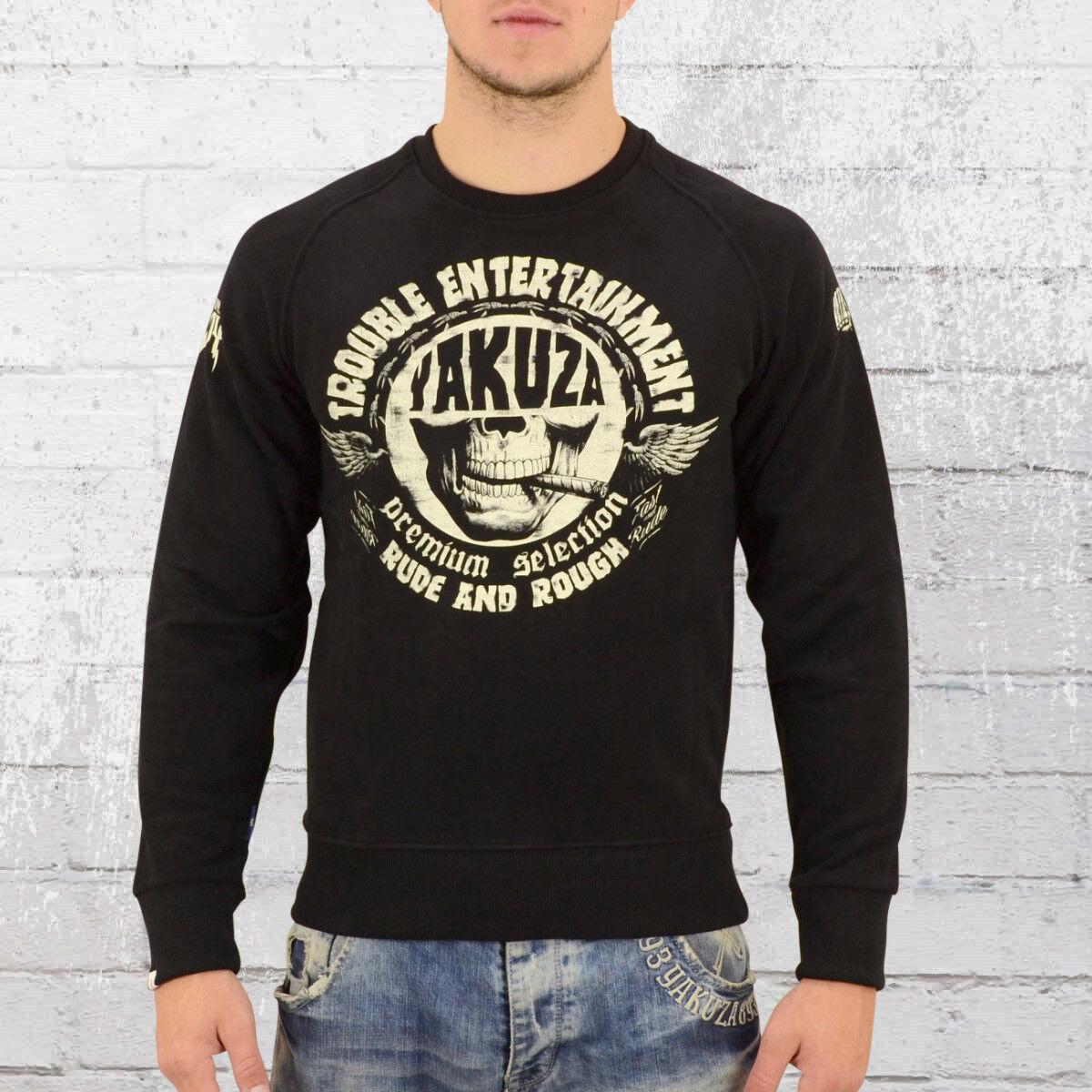 Yakuza Premium Männer Pullover Kill Joy 2328C schwarz Herren Sweater Sweatshirt