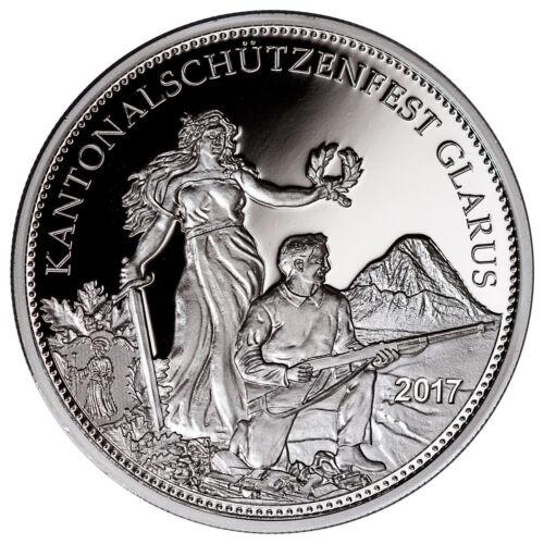 2017 Switzerland Shooting Festival Thaler Glarus Silver Proof Coin COA SKU45748