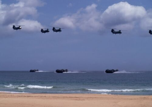 Art print POSTER Canvas Military Helicopters and Hovercrafts