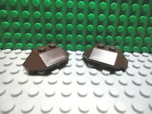 Lego 2 Dark Red 2x4 wedge plate wing ship airplane NEW