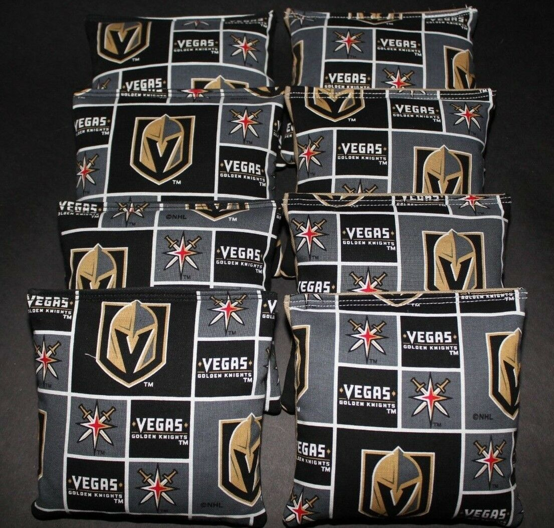 VEGAS goldEN KNIGHTS CORNHOLE BEAN BAGS 8 ACA REGULATION NHL FAN GIFTS