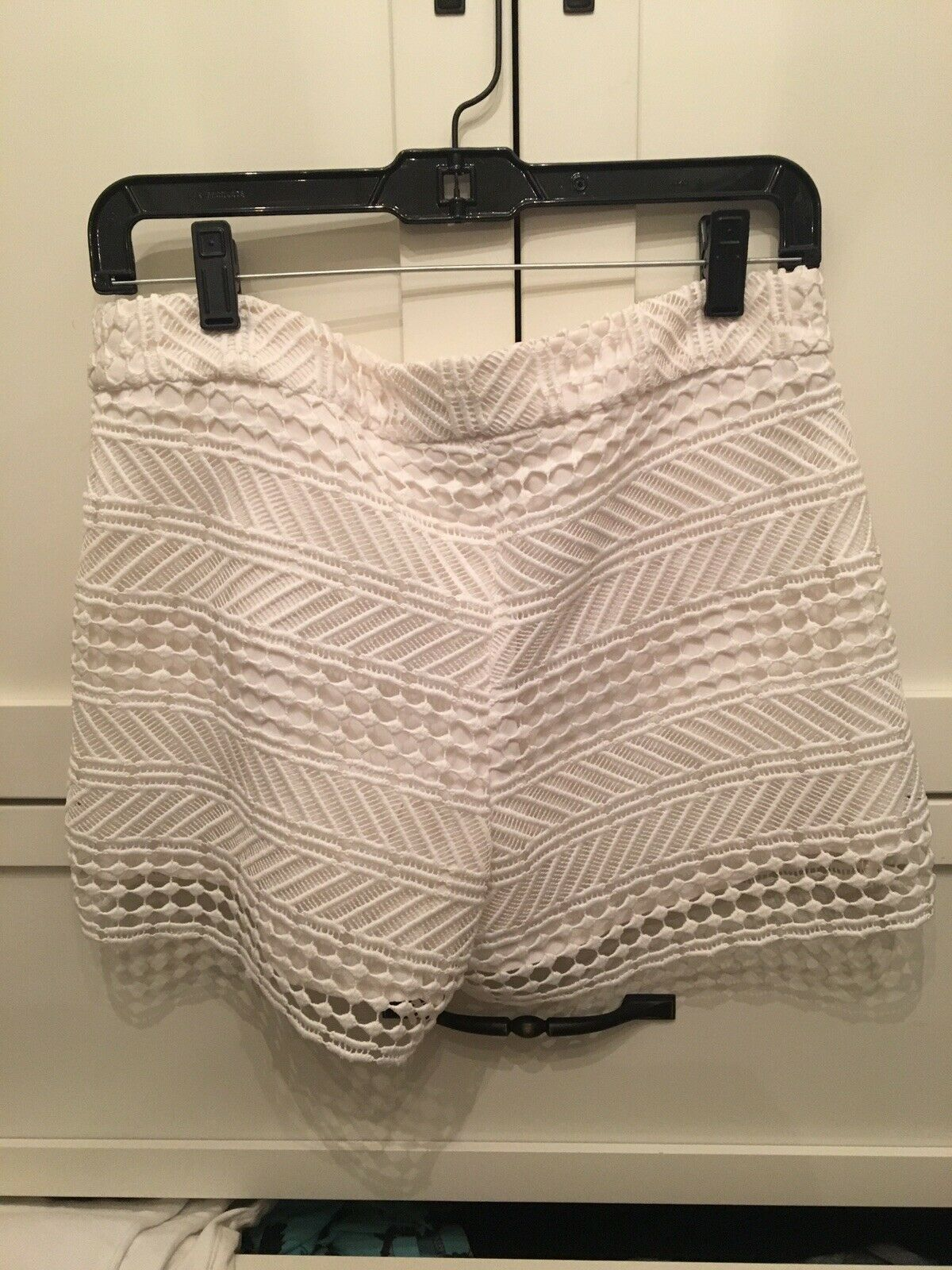 White Couture Shorts, Size 6