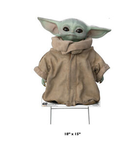 THE CHILD - MANDALORIAN - OUTDOOR LIFE SIZE STANDUP - BRAND NEW STAR WARS 3229