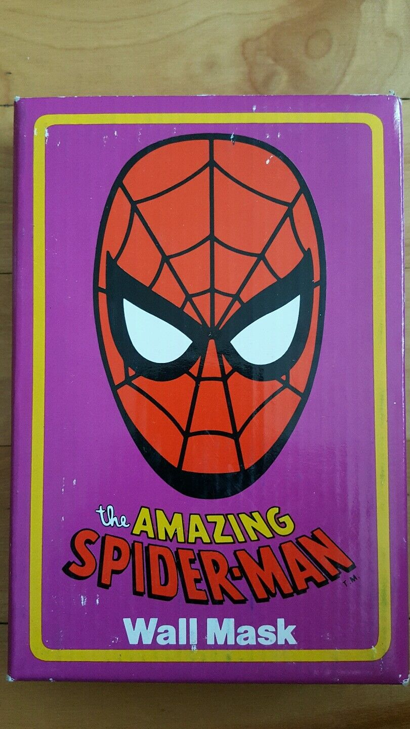 Spiderman wall mask 1990 presents ,hamilton ,hamilton gifts