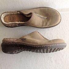 Ladies Brown Sheepskin Ugg Austrailia Clogs Slides Shoes 8 39 Uggs