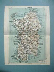 Cartina Antica Sardegna.Stampa Antica Mappa Carta Topografica Stradario Sardegna 1940 Ebay