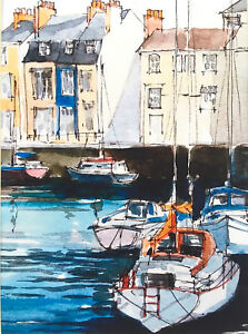 Signed-PRINT-from-Original-Watercolour-Weymouth-Harbour-by-Annabel-Burton