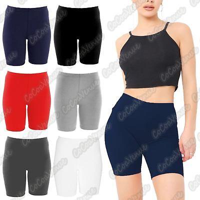 Mesh Insert Cycling Shorts Womens Gym Biker Hot Pants Dance Sports Leggings