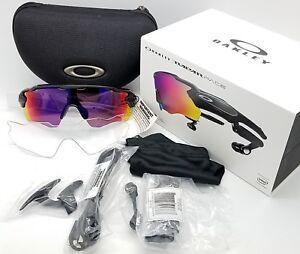 ad252a4e2a35 NEW Oakley Radar Pace sunglasses Black Prizm Road + Clear Smart ...