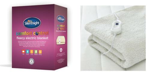 All Sizes Silentnight Fleecy Washable Electric Blanket 3 Heat Settings