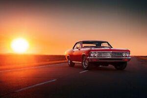 A1-American-Muscle-Car-Poster-Art-Print-60-x-90cm-180gsm-Men-039-s-Cool-Gift-8733