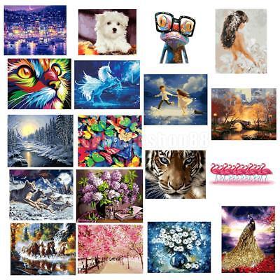 Malen nach Zahlen #2 Diy Kunstdruck Wandbild sich die Farben füllen