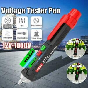 12-1000V-AC-DC-Non-Contact-LCD-Electric-Test-Pen-Voltage-Detector-Tester-G5U9